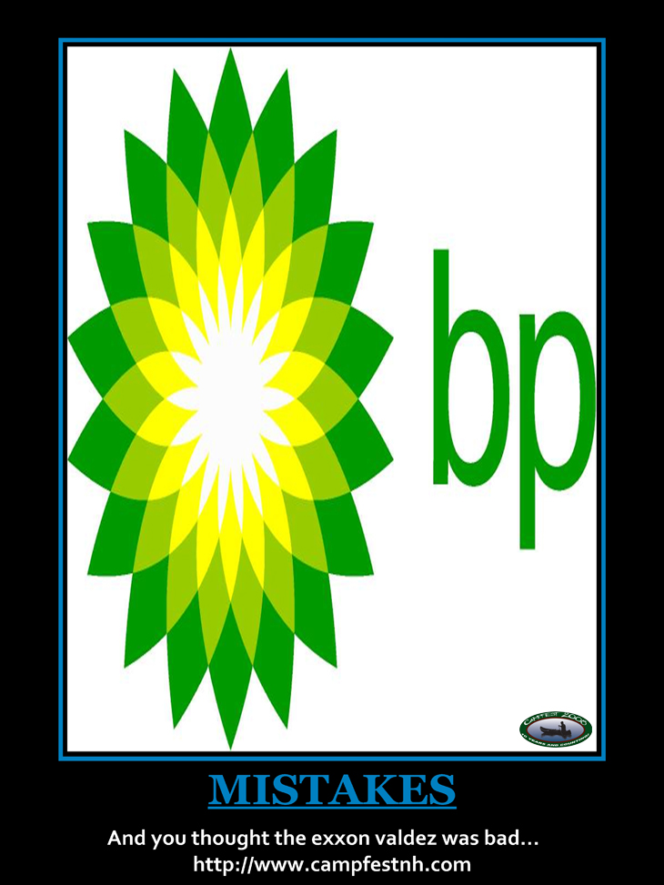 BP Oil Spill Motivational Poster 2010
