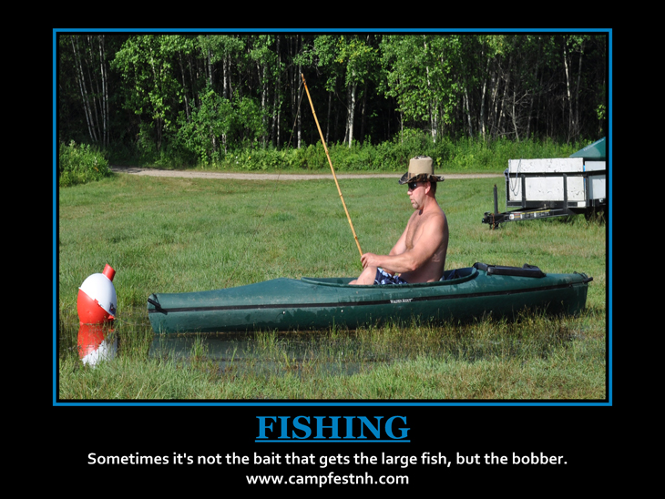 Non Motivational Fishing Poster