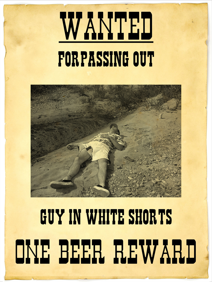 Wanted For Passing Out Poster